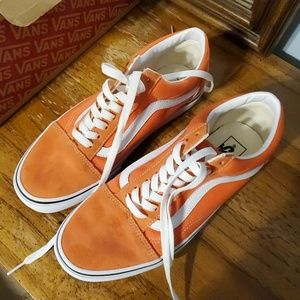 EUC Orange Old Skool Shoes